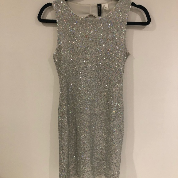 dee5ecfbd0b9b Divided Dresses   Silver Sparkly Hm Dress   Poshmark